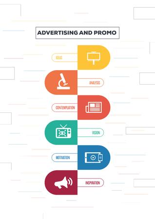 Advertising and Promo Concept Ilustração