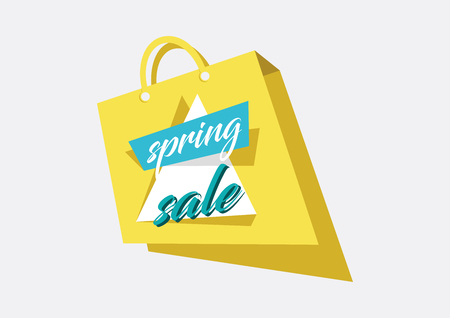 Spring Sale Concept Illustration