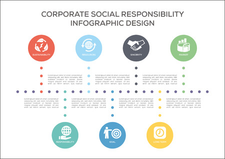 Corporate Social Responsibility Concept Illustration