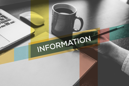 inform information: INFORMATION CONCEPT Stock Photo