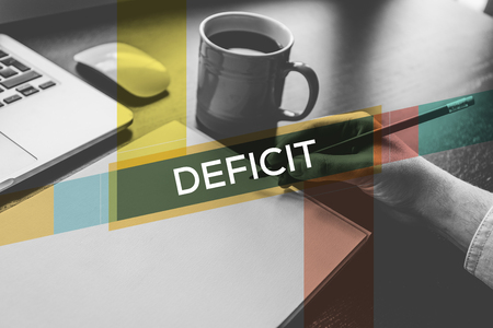 deficit: DEFICIT CONCEPT Stock Photo