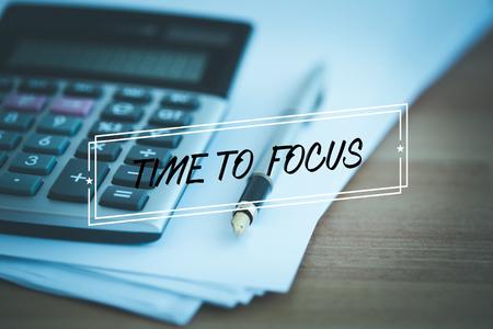 distinctness: TIME TO FOCUS CONCEPT Stock Photo
