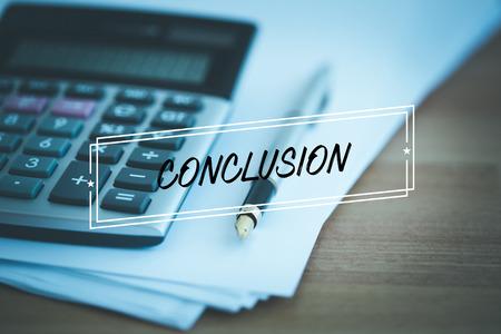 CONCLUSION CONCEPT Stock Photo