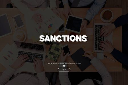 SANCTIONS CONCEPT Stock fotó