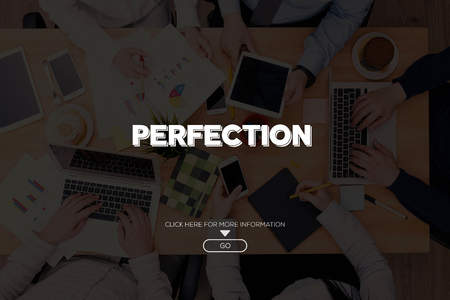 perfection: PERFECTION CONCEPT Stock Photo