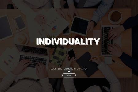 distinctive: INDIVIDUALITY CONCEPT Stock Photo