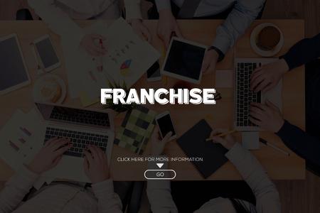 franchising: FRANCHISE CONCEPT Stock Photo