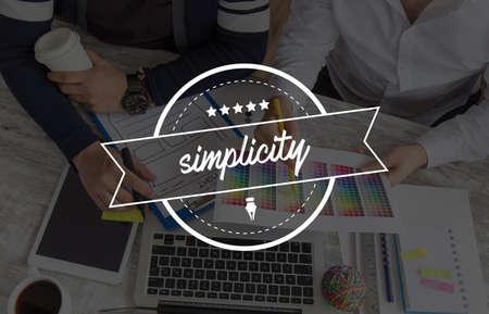 simplicity: SIMPLICITY CONCEPT Stock Photo