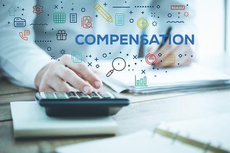 COMPENSATION CONCEPT 写真素材