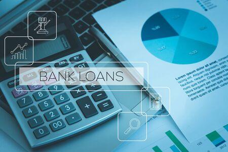 은행 융자 개념 스톡 콘텐츠