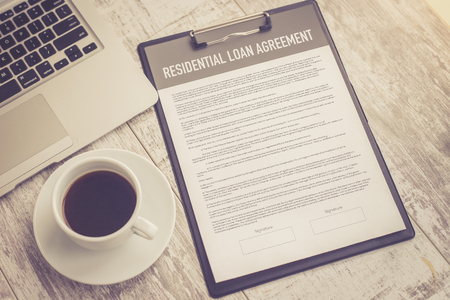 RESIDENTIAL LOAN AGREEMENT CONCEPT Stock Photo