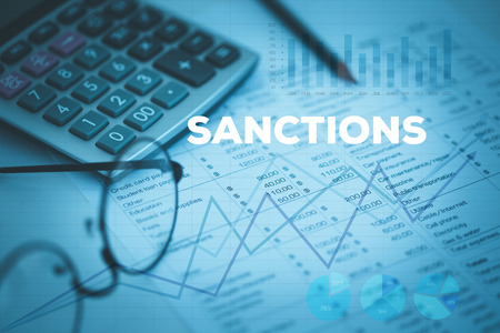 SANCTIONS CONCEPT Stock Photo