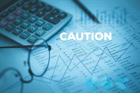 be alert: CAUTION CONCEPT