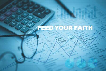 あなたの信仰の概念をフィードします。 写真素材 - 79792407