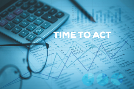 TIME TO ACT CONCEPT Stock Photo