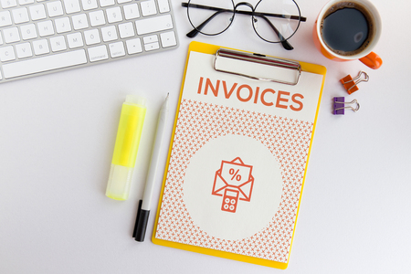 accounts payable: INVOICES CONCEPT Stock Photo