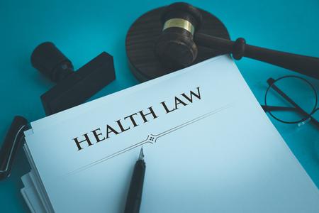 HEALTH LAW CONCEPT Stock fotó - 80013109