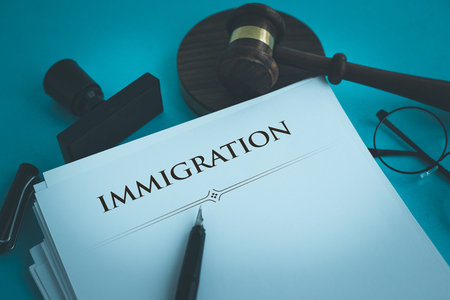 入国管理の概念 写真素材