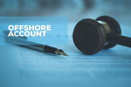 OFFSHORE ACCOUNT CONCEPT Stockfoto - 80077219