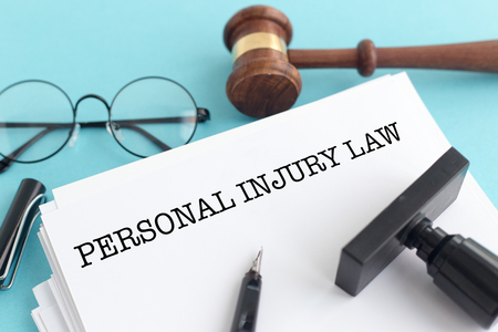 PERSONAL INJURY LAW CONCEPT Standard-Bild