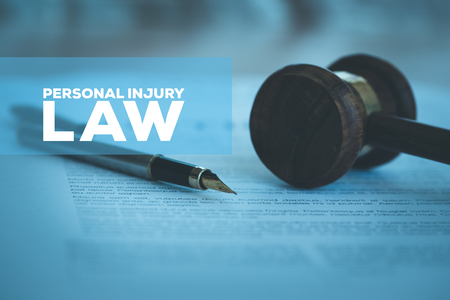 PERSONAL INJURY LAW CONCEPT 版權商用圖片
