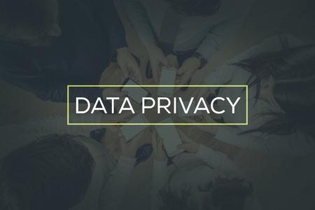 DATA PRIVACY CONCEPT Stock Photo