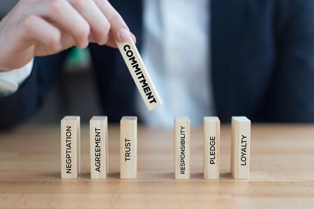 COMMITMENT CONCEPT Stock Photo