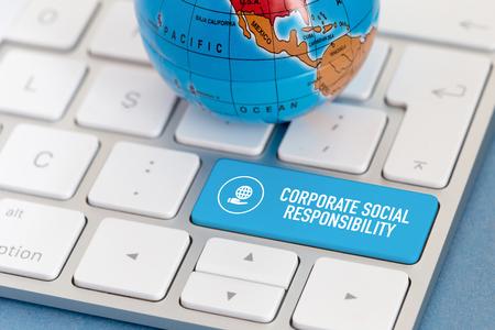 CORPORATE SOCIALE VERANTWOORDELIJKHEID CONCEPT Stockfoto