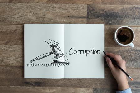 venal: CORRUPTION CONCEPT Stock Photo