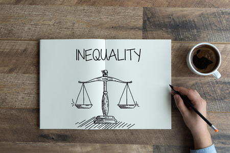 INEQUALITY CONCEPT Stock Photo
