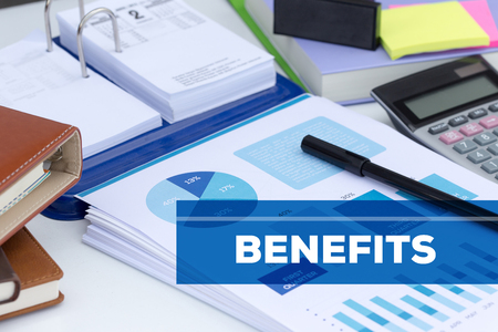 BENEFITS CONCEPT Stock Photo