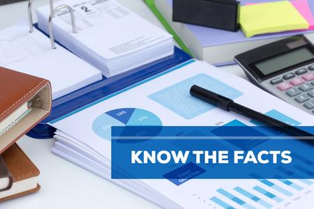 Conocer los hechos CONCEPTO Foto de archivo - 79827268