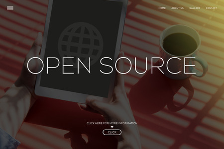 open source: OPEN SOURCE CONCEPT Stock Photo