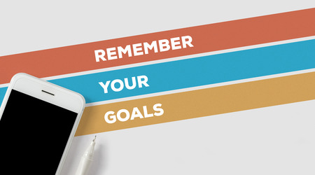 あなたの目標の概念を覚えています。 写真素材 - 79928855