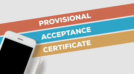 provisional: PROVISIONAL ACCEPTANCE CERTIFICATE CONCEPT