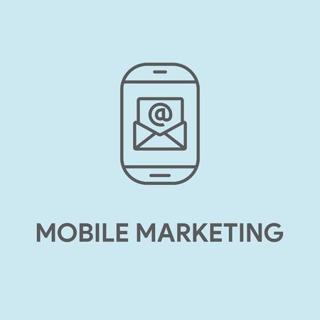 smartphone: MOBILE MARKETING CONCEPT Illustration
