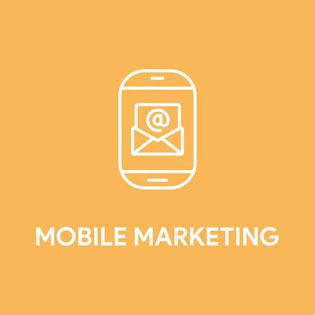 mobile communication: MOBILE MARKETING CONCEPT Illustration