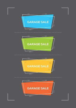 Garage sale concept.