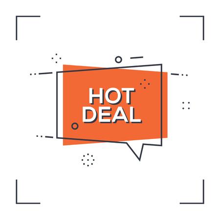 Hot deal concept.