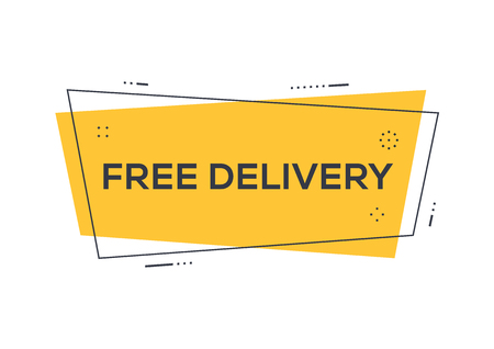 Free delivery concept.