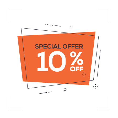 Special Offer 10% off Concept
