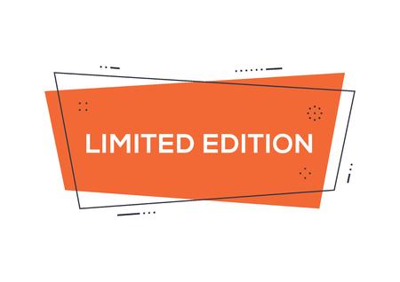 限定版のコンセプト  イラスト・ベクター素材