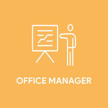 manager: OFFICE MANAGER CONCEPT Illustration