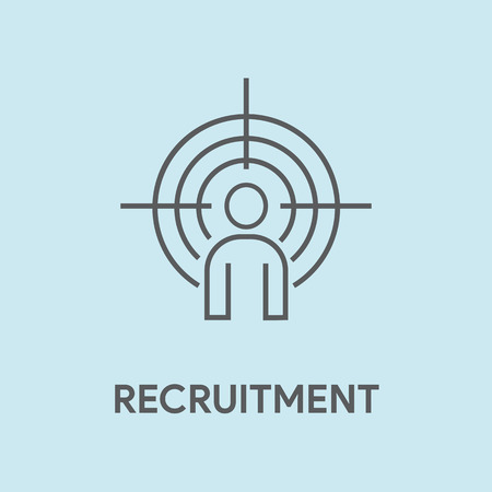 RECRUITMENT CONCEPT Stock Illustratie