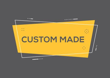 Custom made sign 向量圖像