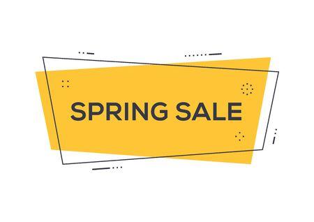 Spring sale sign Illustration