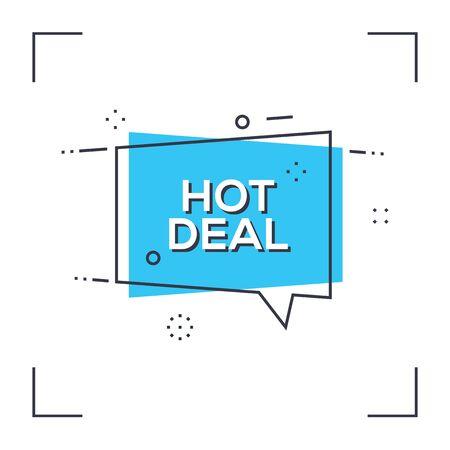 Hot Deal sign Illustration