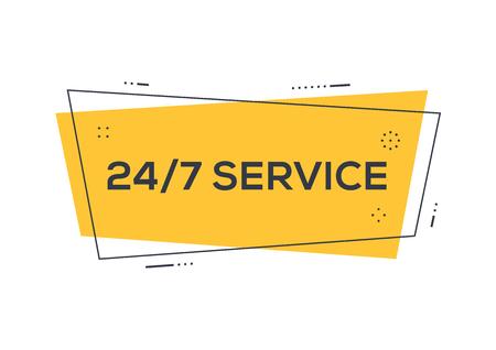 247 SERVICE CONCEPT Иллюстрация