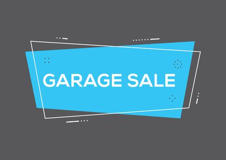 Garage sale concept Stock Vector - 85817224