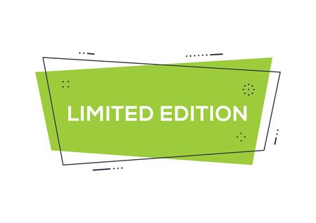 限定版コンセプト  イラスト・ベクター素材